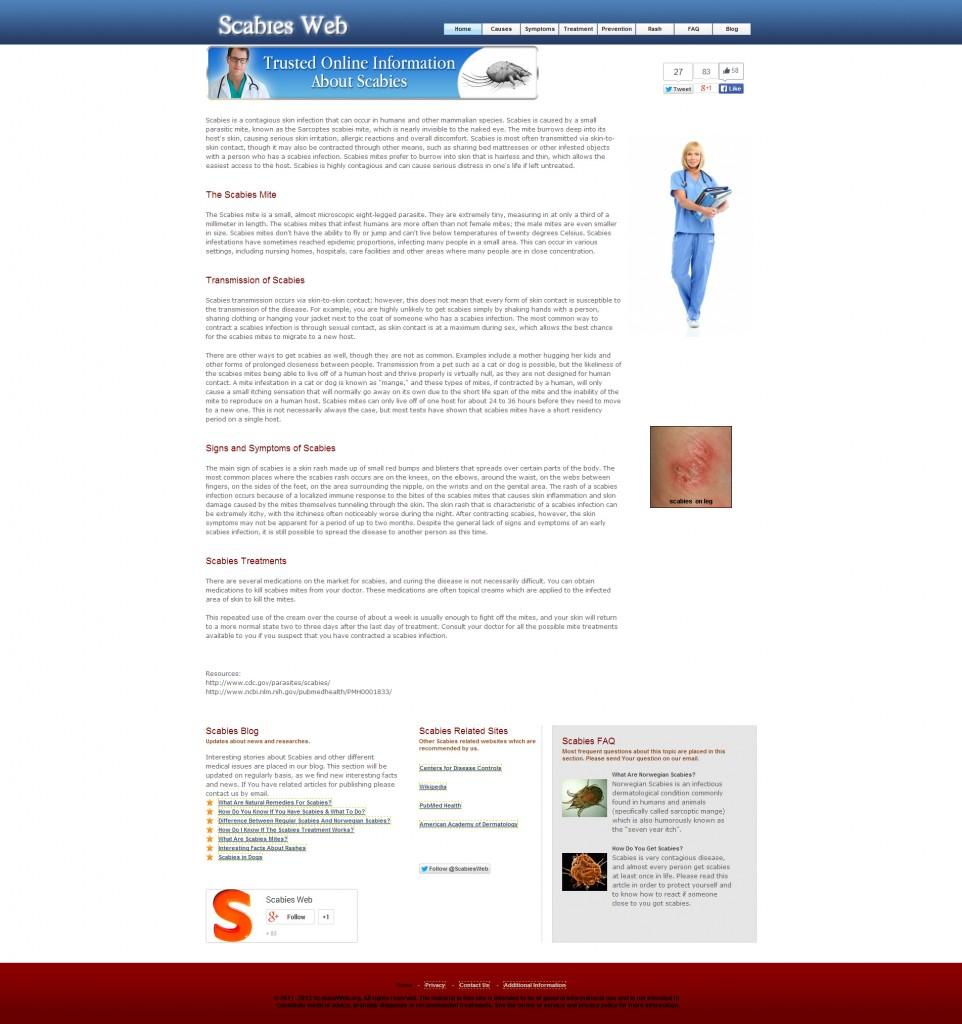 Scabies Web main site